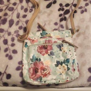Green floral purse